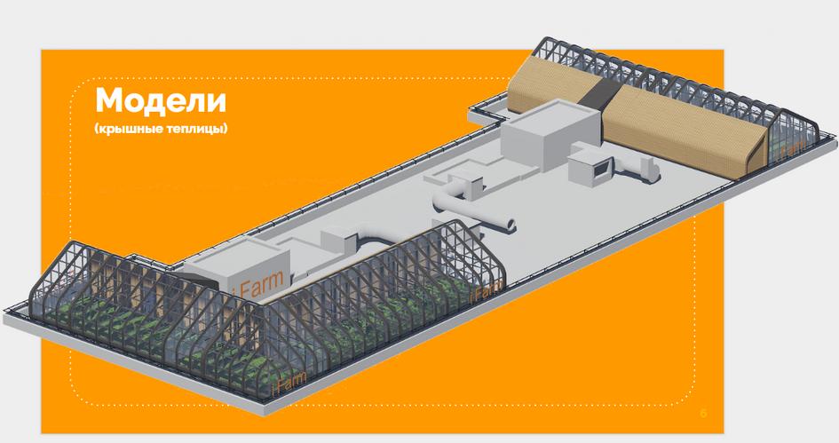 Теплицы на крыше по проекту IFarm project