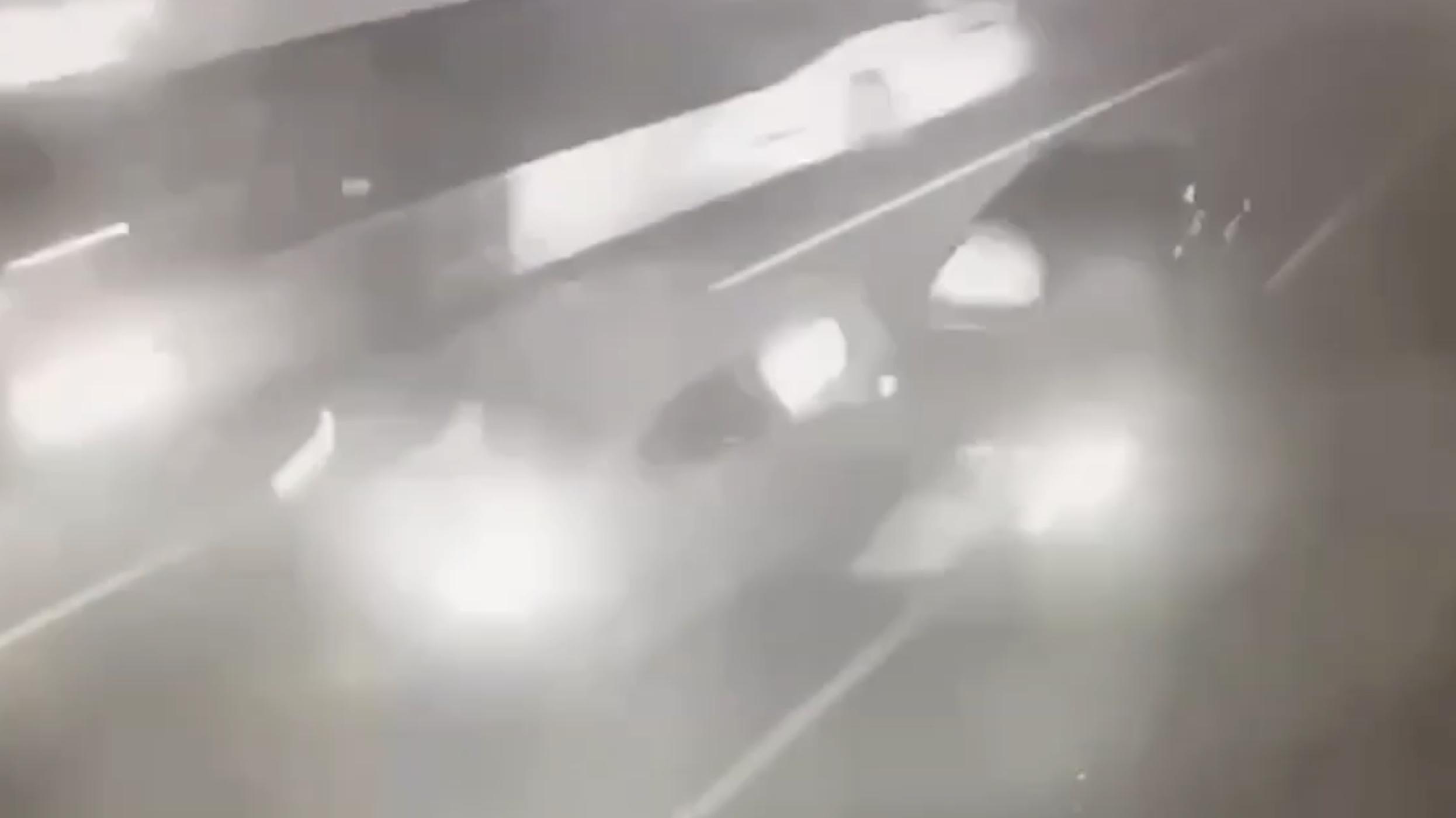 Появилось видео с моментом ДТП с машиной с Собчак под Сочи