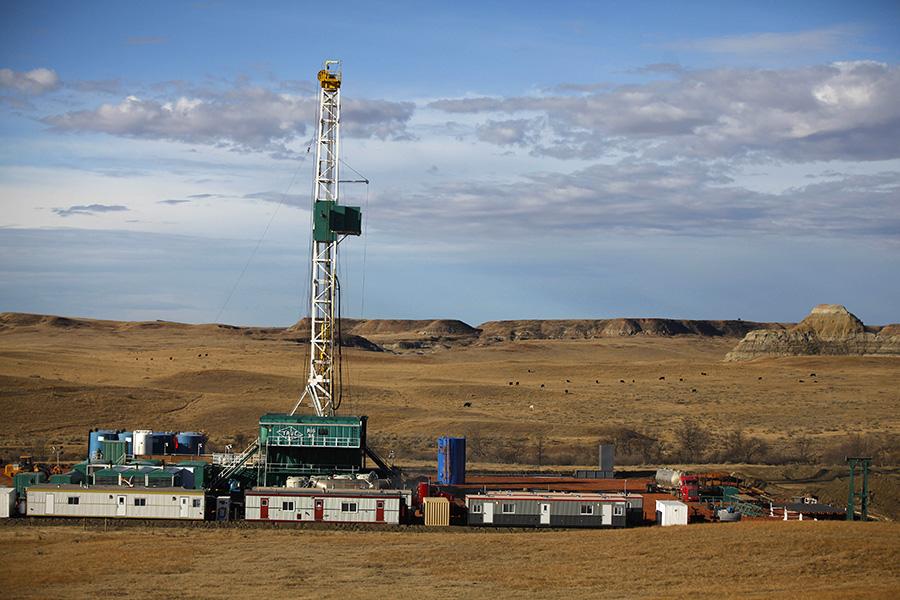 Буровая установка в Северной Дакоте в США