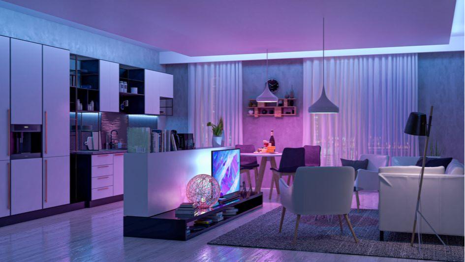 Продумайте освещение в кухне-гостиной