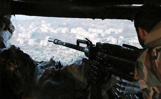 Сирийский военный в провинции Латакия. 10 октября 2015 года