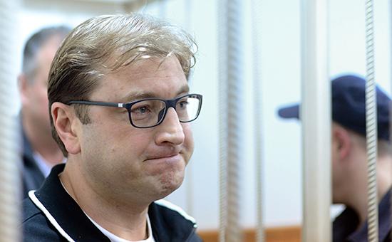 Бизнесмен Дмитрий Михальченко вБасманном суде Москвы. Май 2016 года