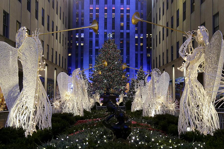 Рождественская ель у Рокфеллер-центра