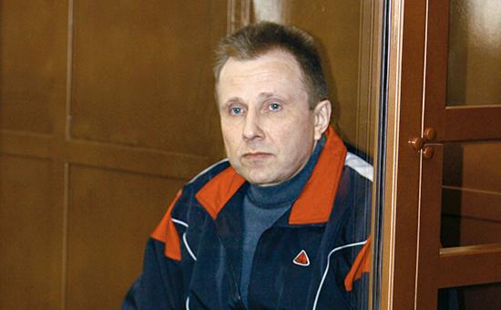 Бывший сотрудник службы безопасности ЮКОСа Алексей Пичугин в зале заседания Мосгорсуда. Апрель 2007 года