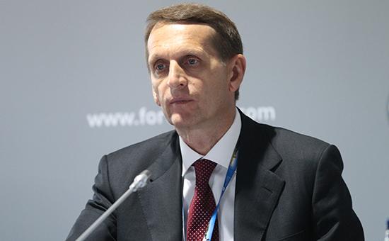 Спикер Госдумы шестого созыва Сергей Нарышкин