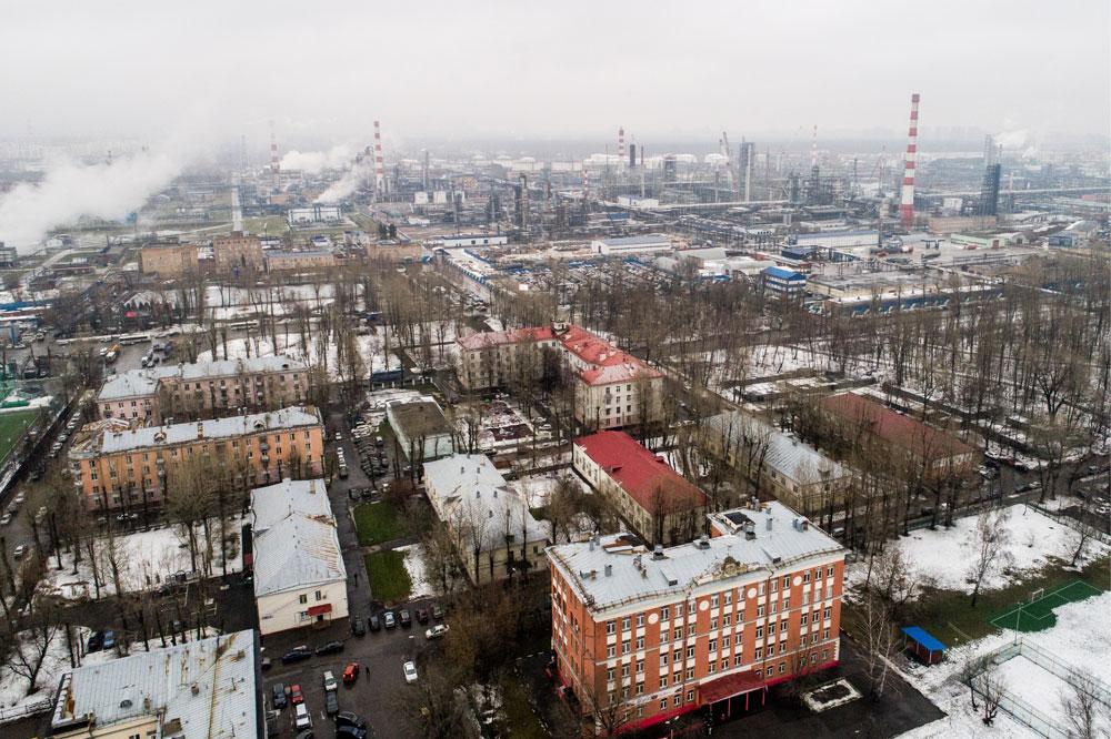 Вид на жилую застройку района Капотня