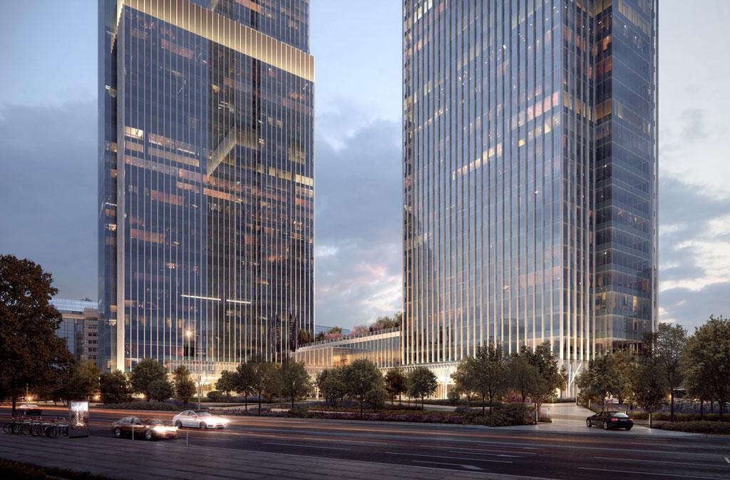 Neva Towers представляет собой многофункциональный комплекс в центре Москвы, его проектирование и строительство осуществляются по стандартам LEED (в переводе — «Лидерство в энергетическом и экологическом проектировании»)