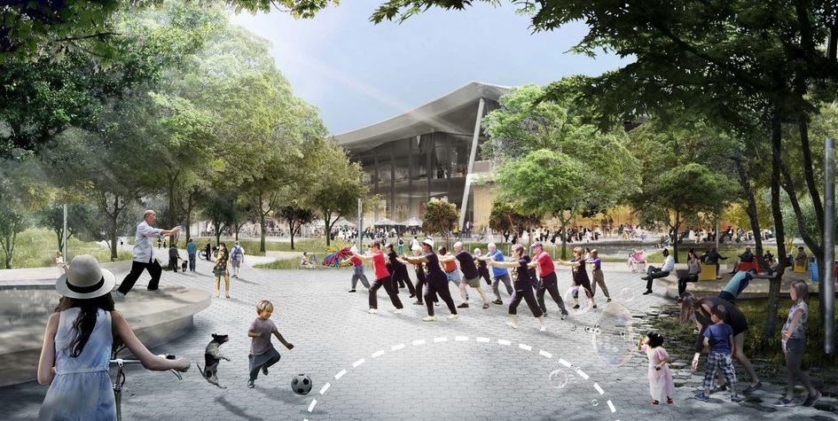 В кампусе Google будут работать кафе имагазины, авскверах междукорпусами предполагается проводить занятия наоткрытом воздухе