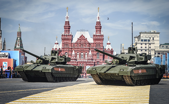 Российский танк «Армата» на параде Победы в Москве