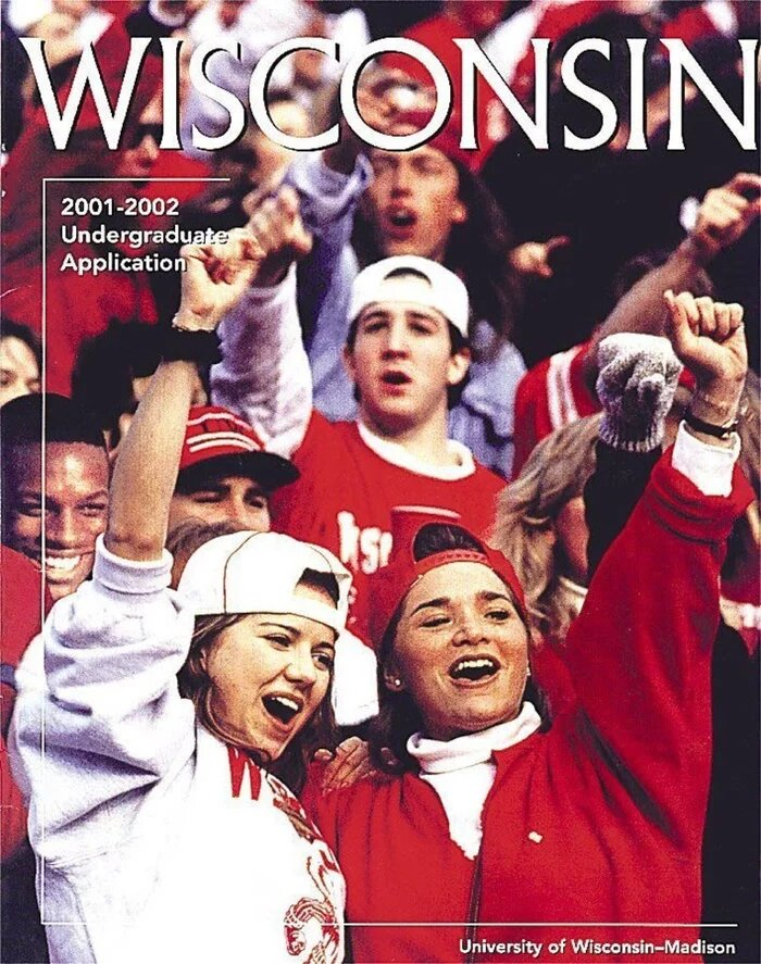Обложка брошюры для первокурсников 2001–2002 года Университета Висконсина