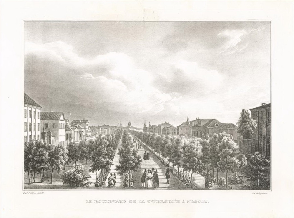 Огюст-Антуан Кадоль. Тверской бульвар. 1825 год