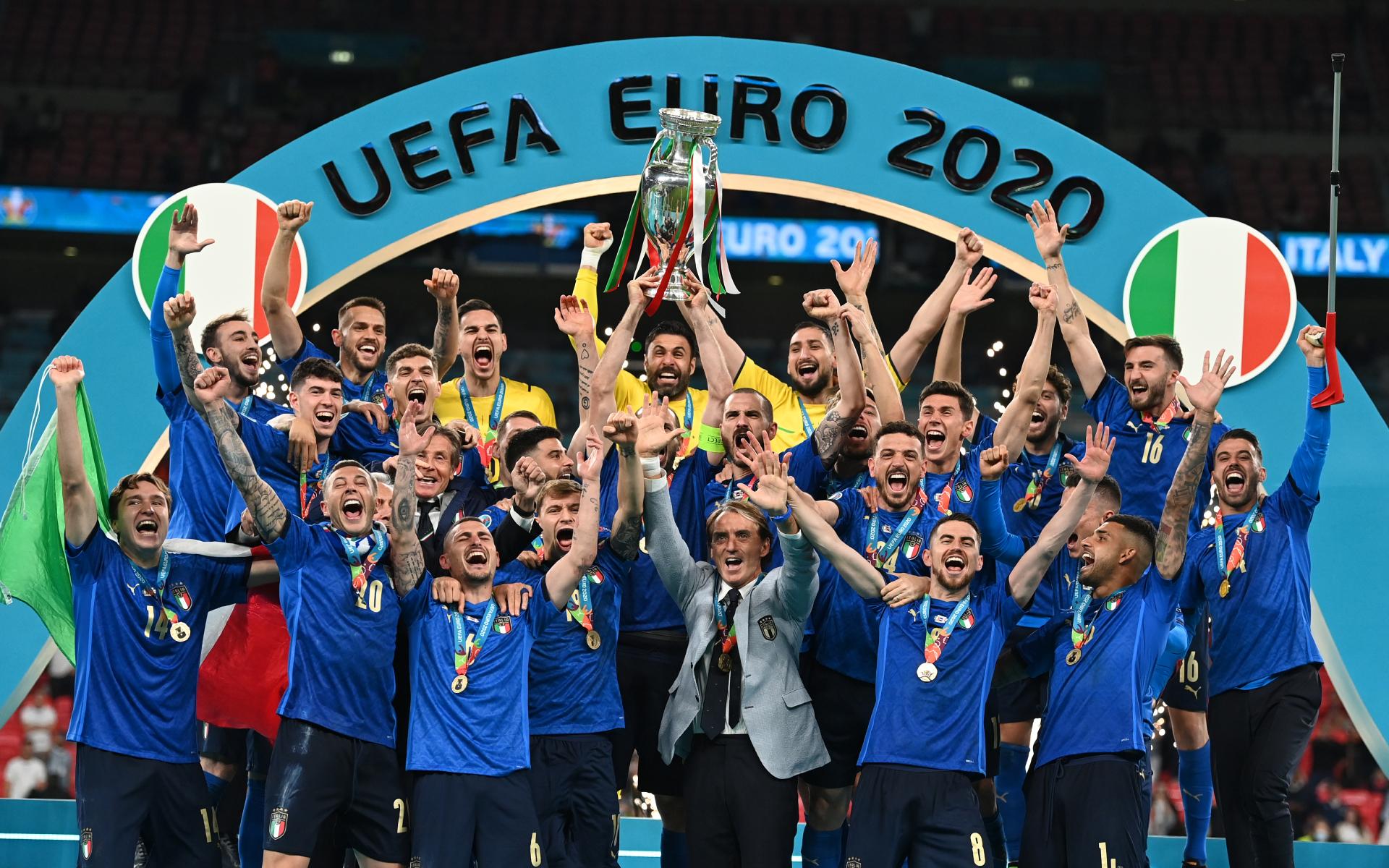 Фото: Сборная Италии — победитель Евро-2020  (Photo by Michael Regan/UEFA via Getty Images)