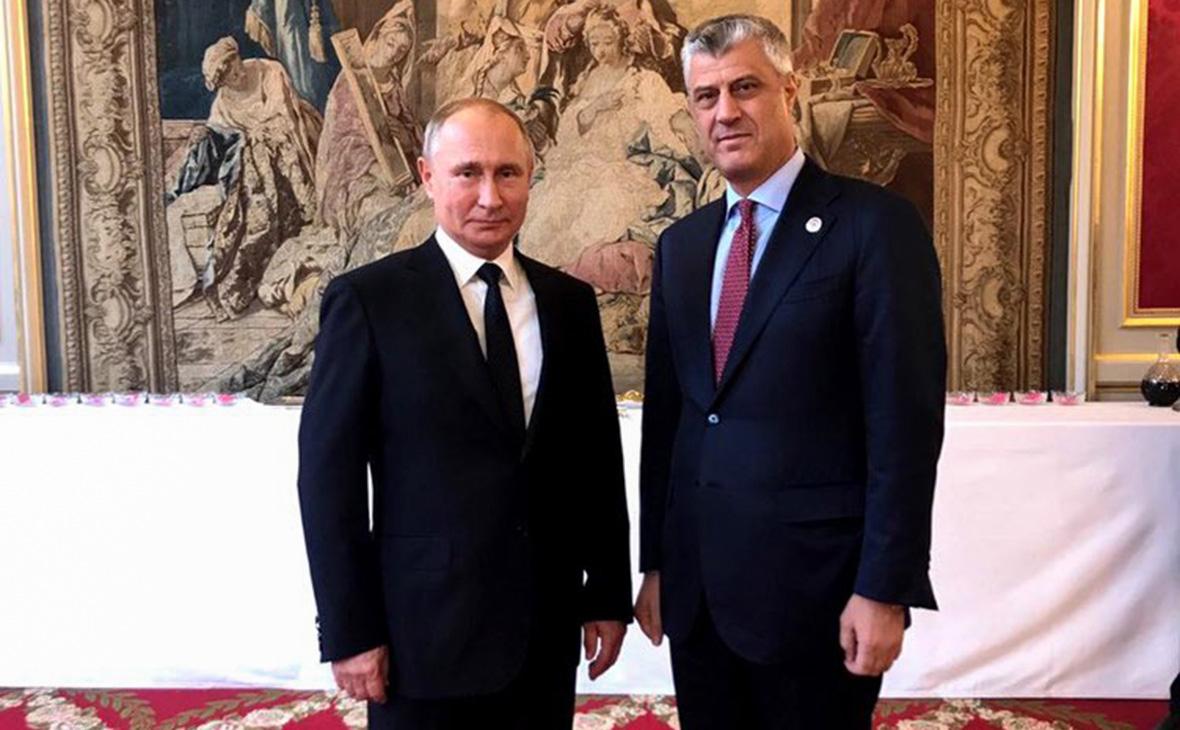 Владимир Путин иХашим Тачи(слева направо)