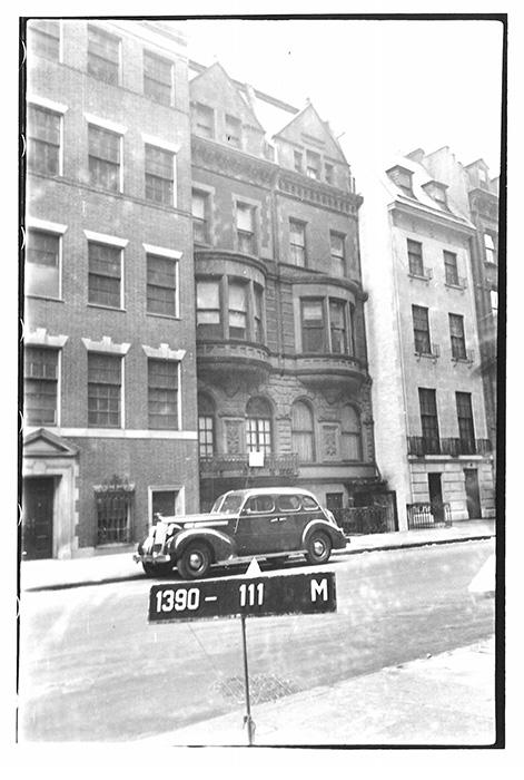 Дома 11-15 по 75-й улице на Манхэттене в 1940 году