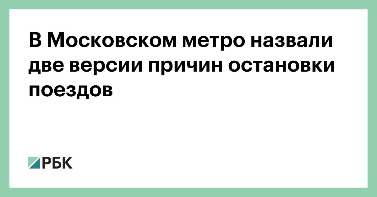 В Московском метро назвали две версии причин остановки поездов