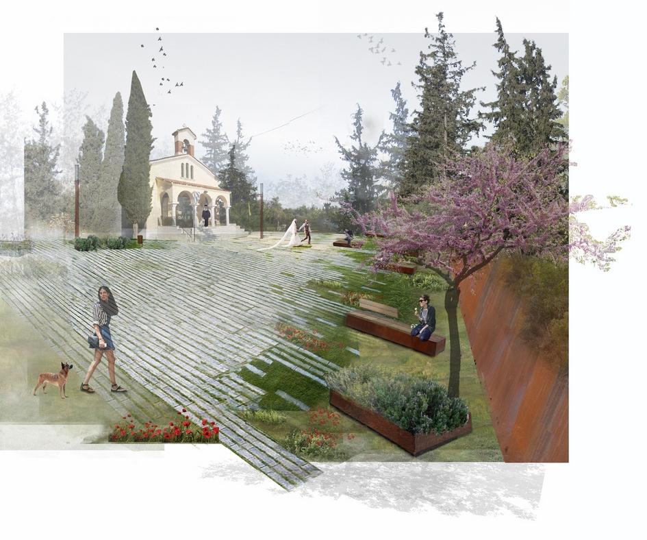 Парк сохранит существующие контуры кладбища иосновные объекты.Так, вего центральной части будет благоустроена соборная площадь схрамом, арядом появится встроенный амфитеатр сосредиземноморскими садами