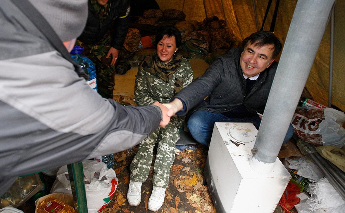 Михаил Саакашвили в Киеве. 22 октября 2017 года
