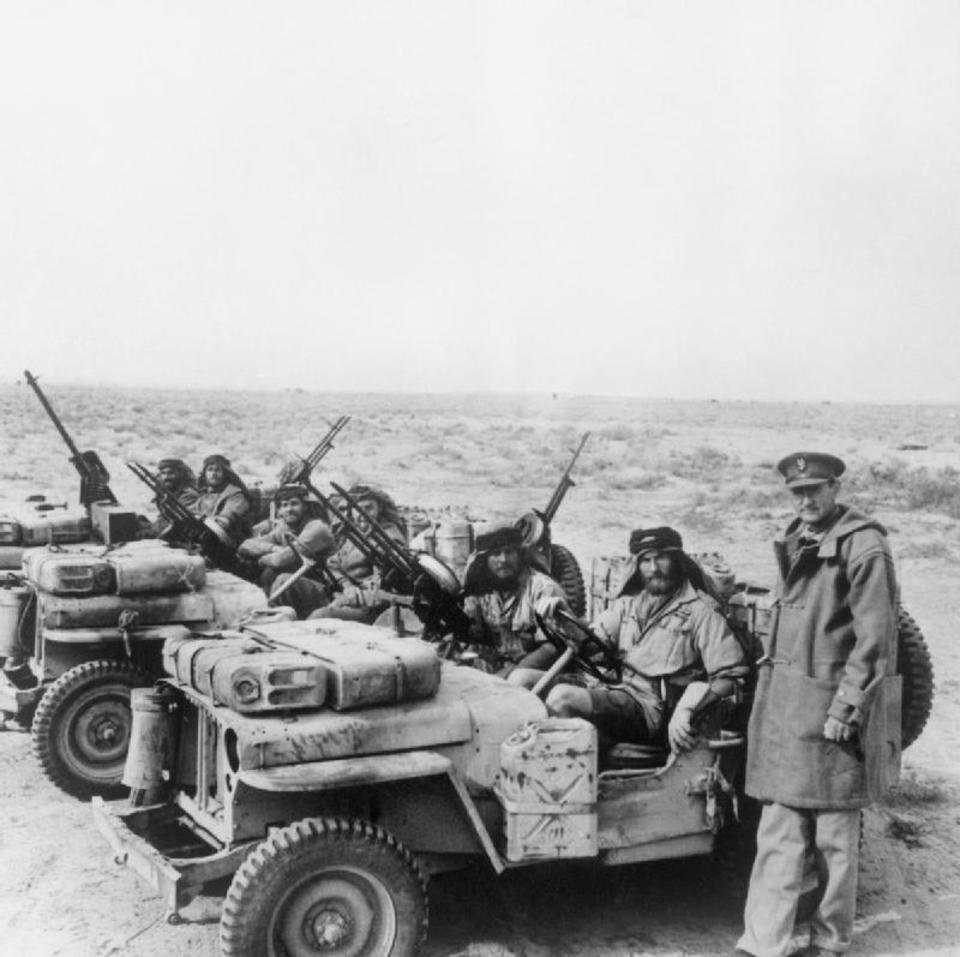 Дэвид Стирлинг с патрулем SAS в Северной Африке во время Второй мировой войны