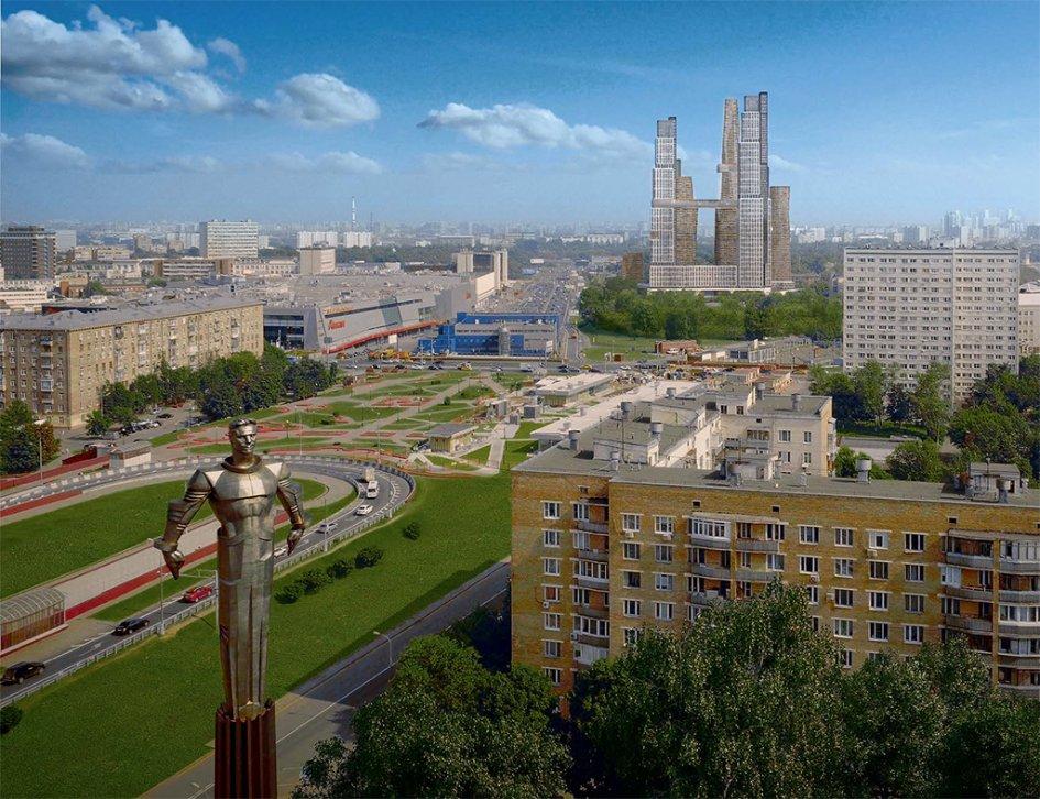 Проектный план размещения высотного жилого комплекса «Нескучный Home & Spa» в Донском районе