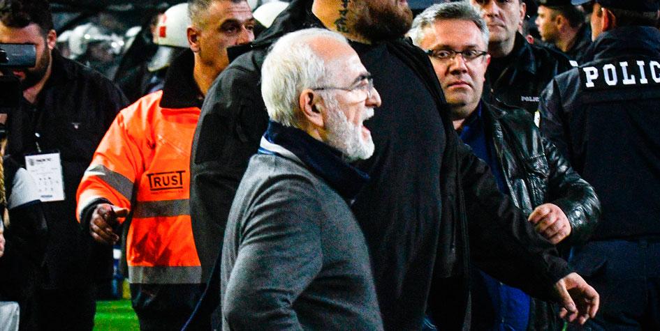 В Греции выдали ордер на арест сорвавшего матч российского бизнесмена