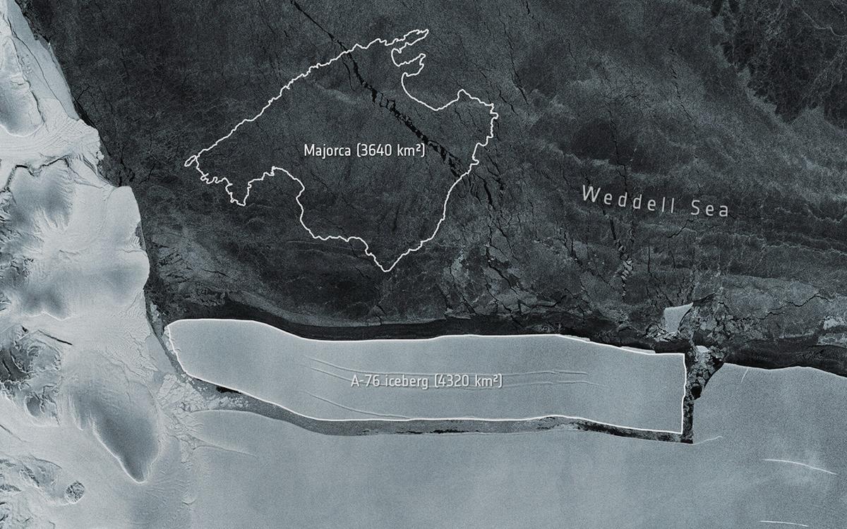 В Антарктиде откололся самый большой в мире айсберг