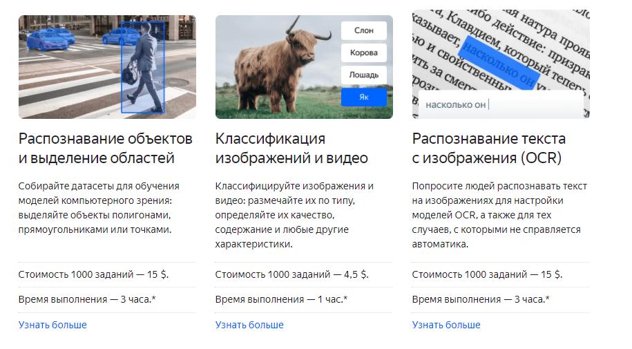 Примеры задач с «Яндекс.Толоки»