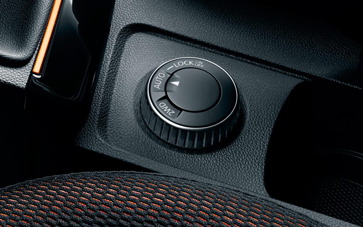 <p>Перед тем, как штурмовать бездорожье на новом Duster, необходимо активировать шайбой режим 4WD LOCK.</p>