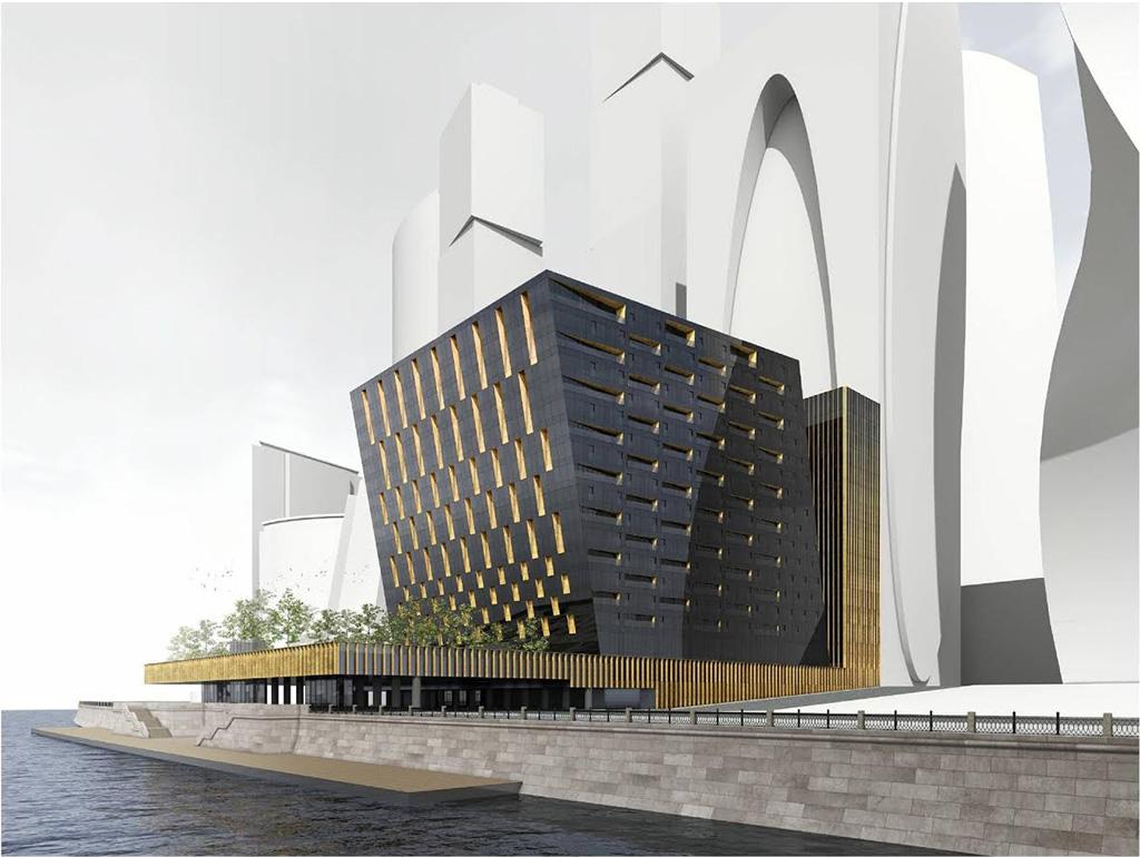 Согласованный властями проект фасадов второй очереди башни «Империя Тауэр»