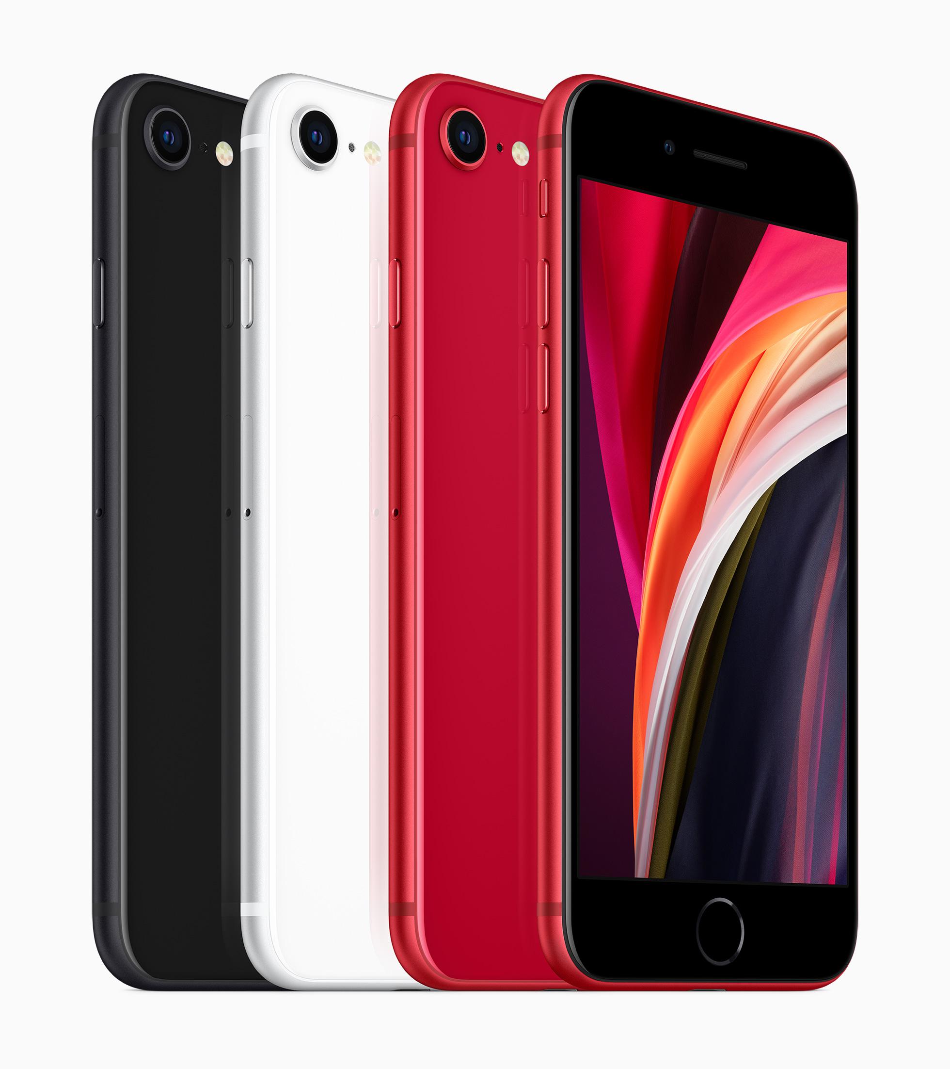 Новый iPhone SE будет выполнен в трех цветах: черном, белом и красном