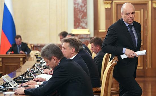 Антон Силуанов на заседании правительства России