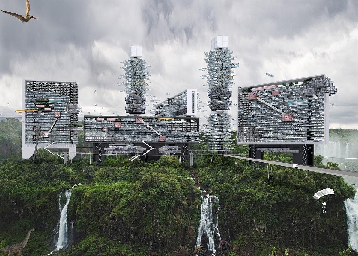 Концепция «города будущего» от O2 Design Atelier
