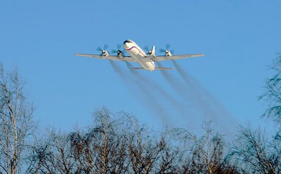 Самолет Ил-18. Февраль 2015 года