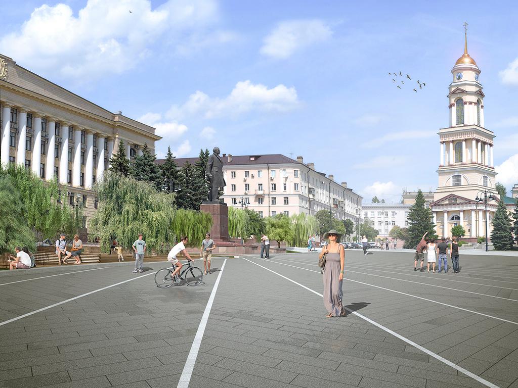 Визуализация проекта благоустройства центральной улицы Липецка