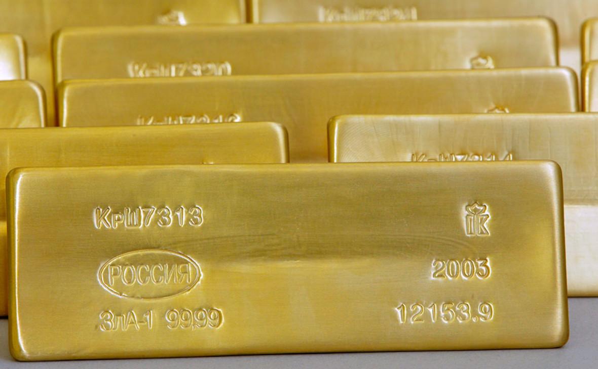 Слитки золота производства «Красцветмет»