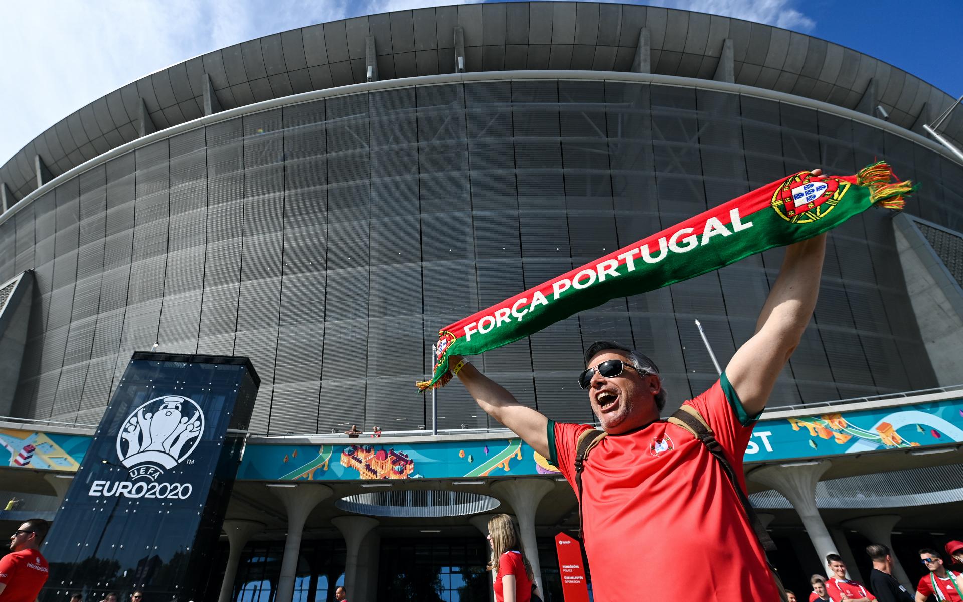 Болельщик около стадиона в Будапеште