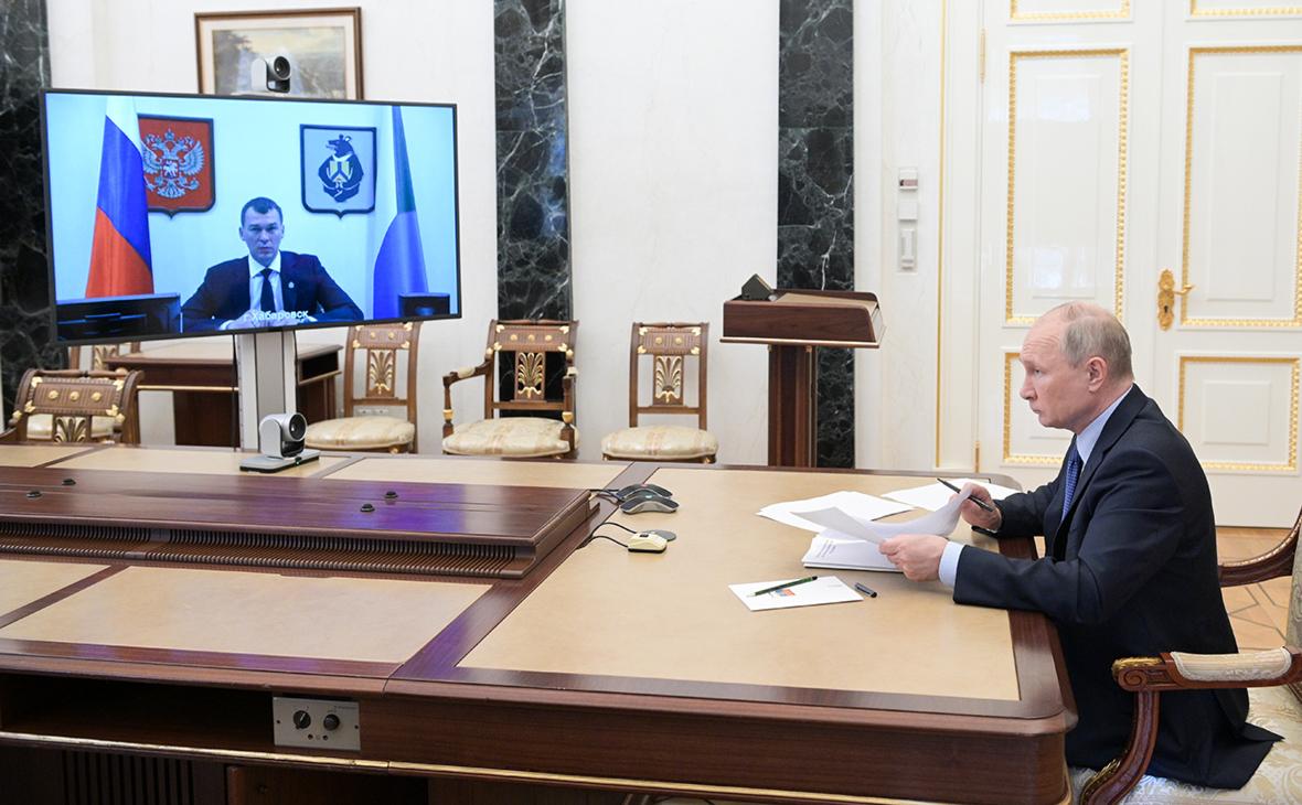 Михаил Дегтярев иВладимир Путин