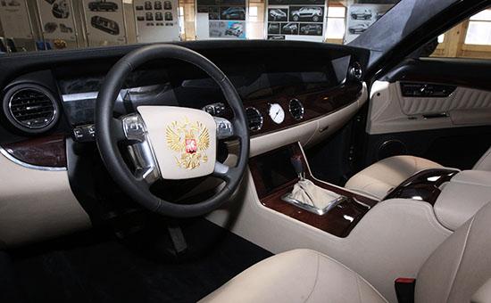 Салон макета автомобиля, разработанного в рамках проекта «Кортеж»