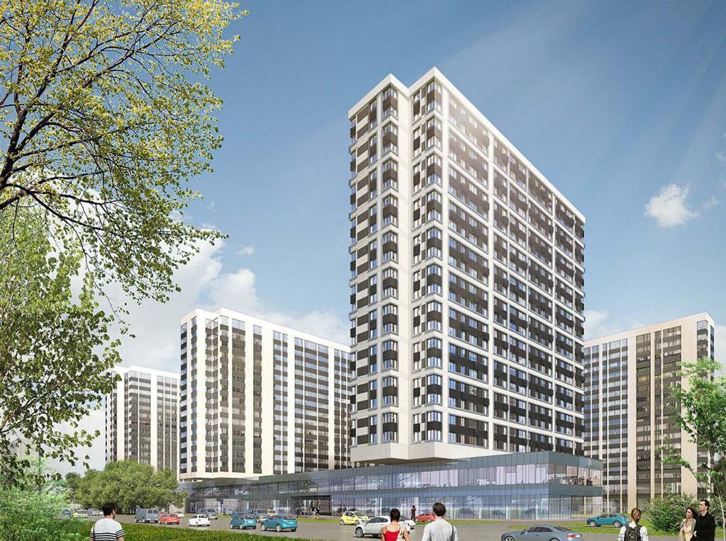Визуализация архитектурного проекта жилого комплекса