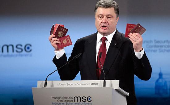 Президент Украины Петр Порошенко на конференции в Мюнхене