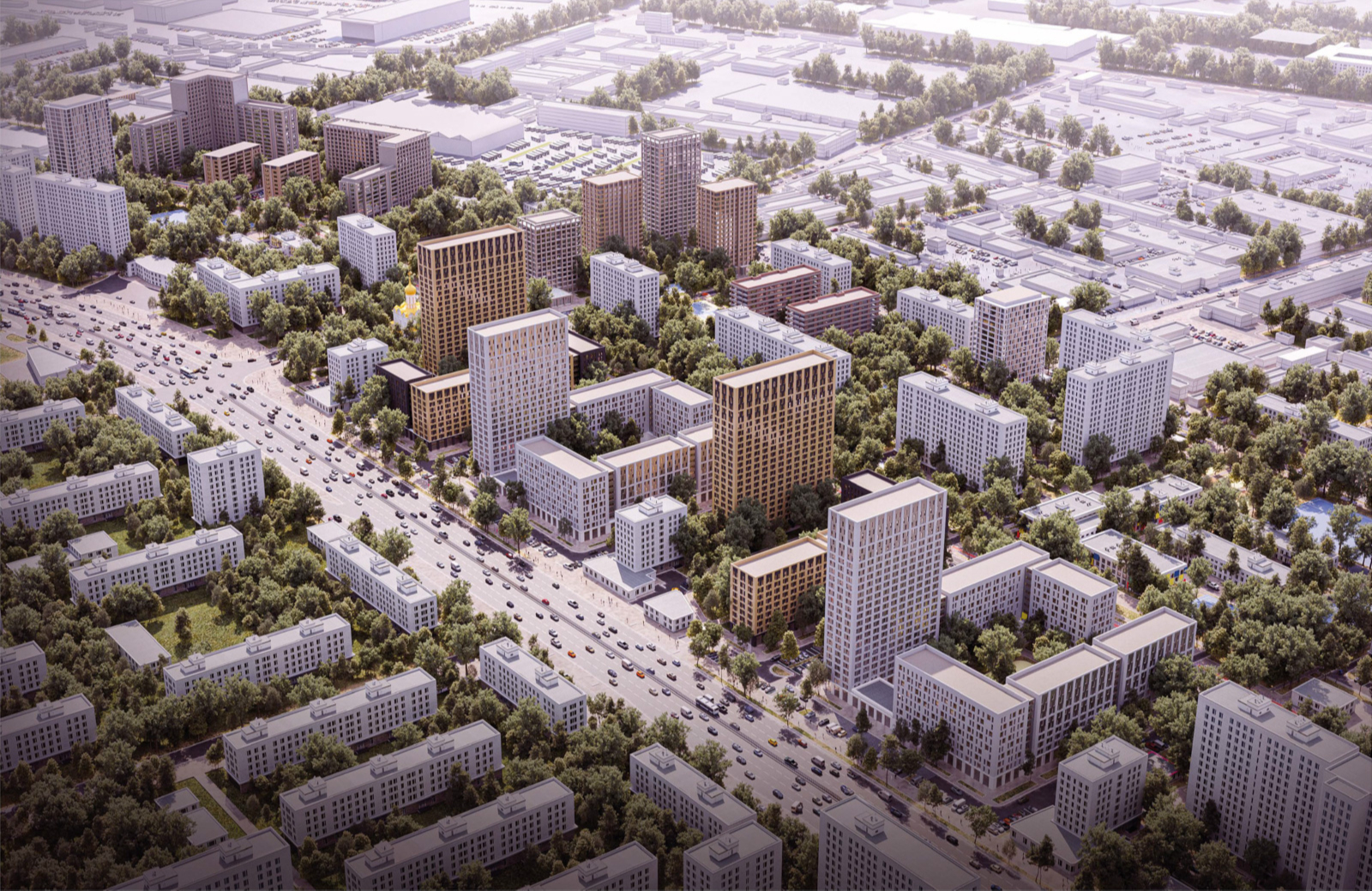Визуализация «Хайлайт Архитектура» + Petitdidierprioux Architects via Институт Генплана Москвы