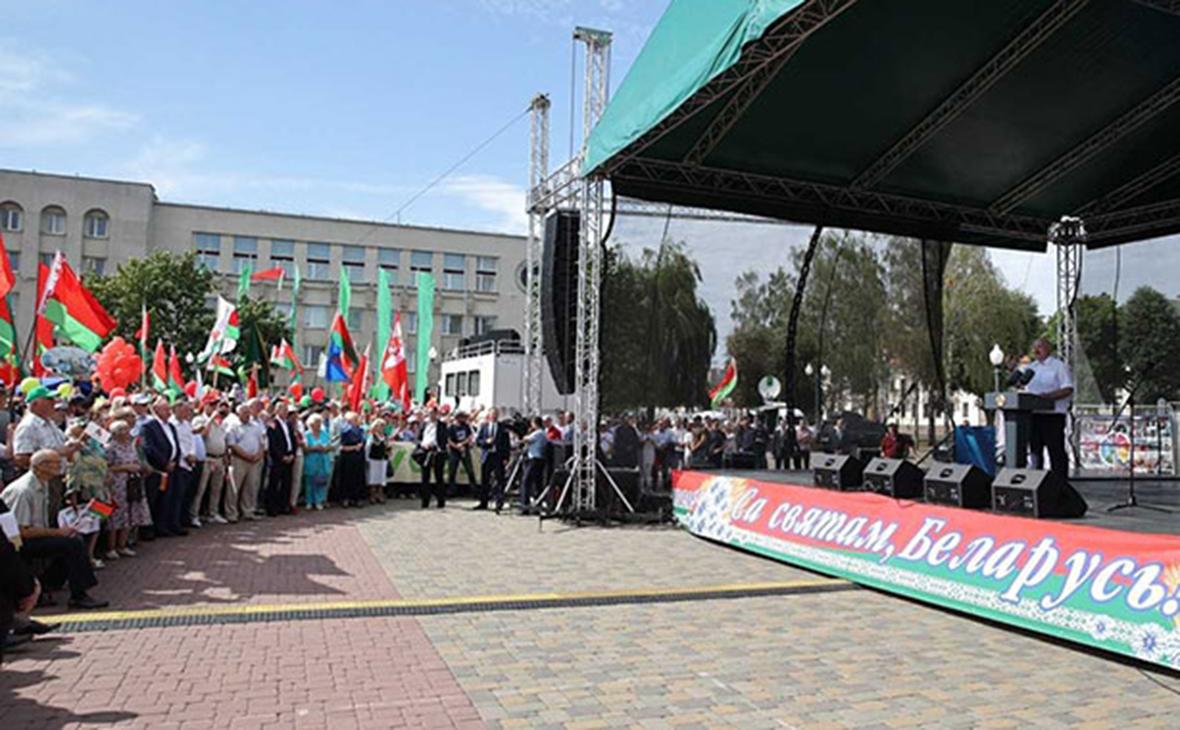 Александр Лукашенко на митинге в свою поддержку в городе Гродно