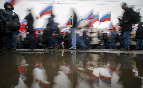 Траурное шествие в память о политике Борисе Немцове