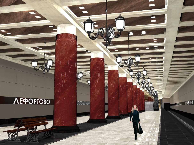 В рамках строительства Большой кольцевой линии в 2019 году откроется станция «Лефортово»,она должна разгрузить действующие перегруженные линии —Калининскую и Арбатско-Покровскую. «Но пока кольцо (БКЛ) не замкнется, эти станции будут работать как продолжение новой Некрасовской линии, которая также будет запущена в следующем (2019) году»,— пояснил заммэра столицы Марат Хуснуллин. Станция БКЛ «Лефортово» расположится на территории сквера у кинотеатра «Спутник» вблизи Солдатской и Наличной улиц