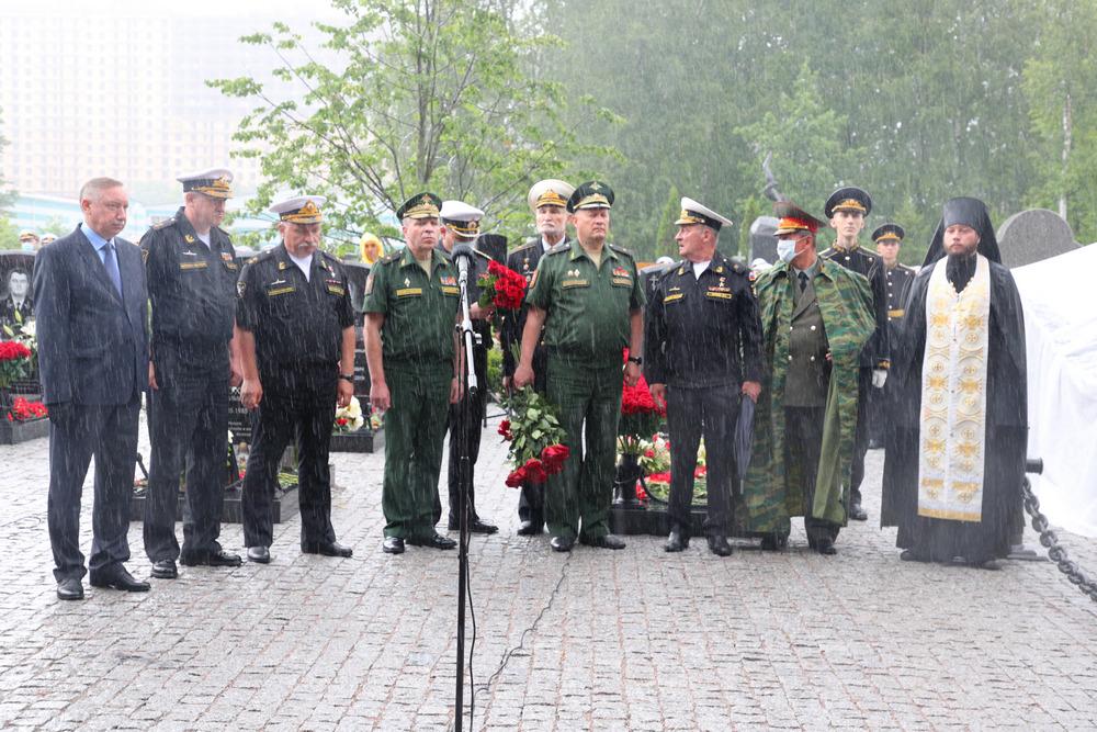 Церемония открытияМемориального комплекса памяти офицеров-подводников, погибших в Баренцевом море 1 июля 2019 года.