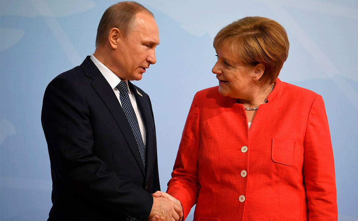 Путин и Меркель обсудили ситуацию на Украине и в Ливии :: Политика :: РБК