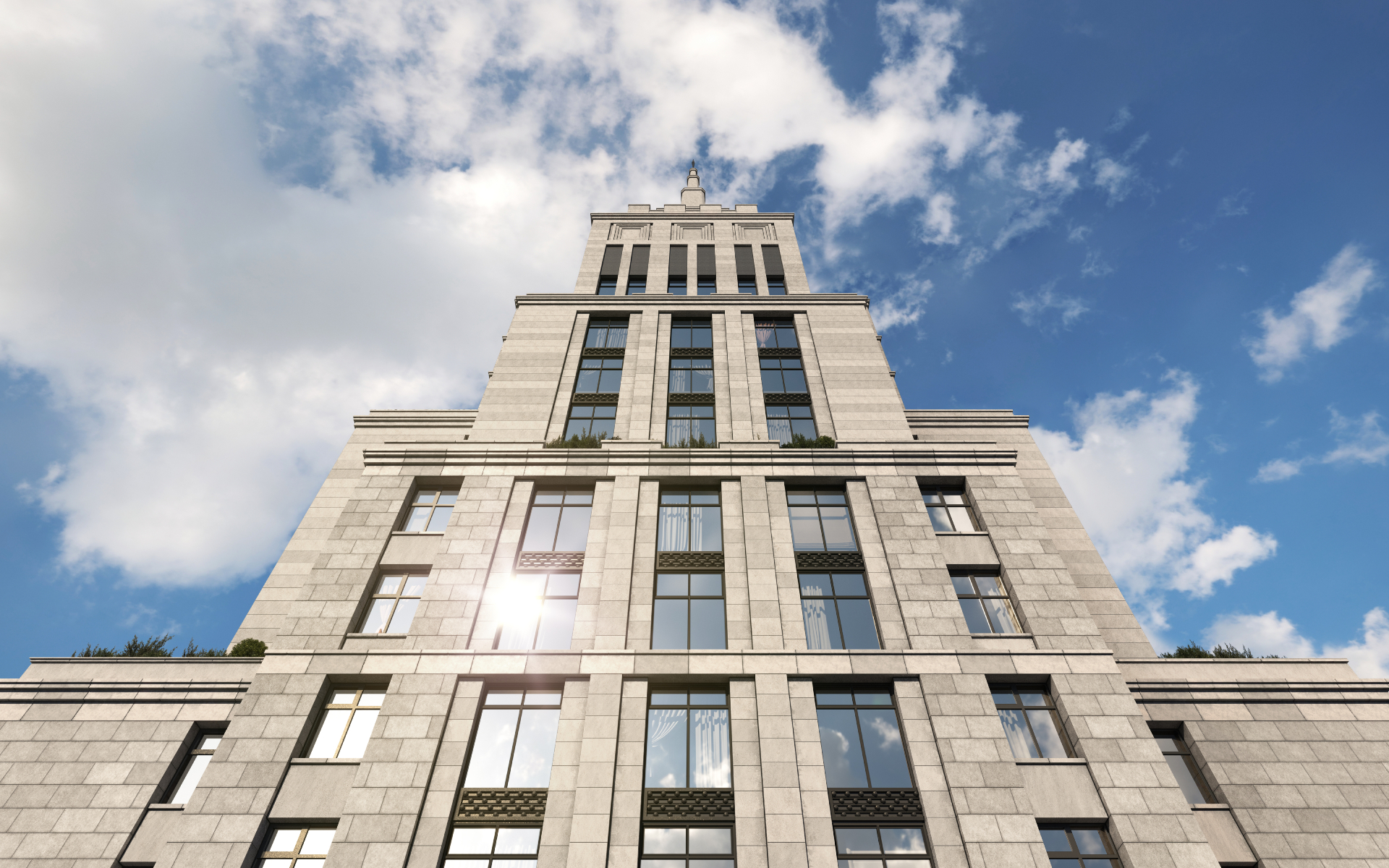 Alcon Tower. Визуализация Alcon Group