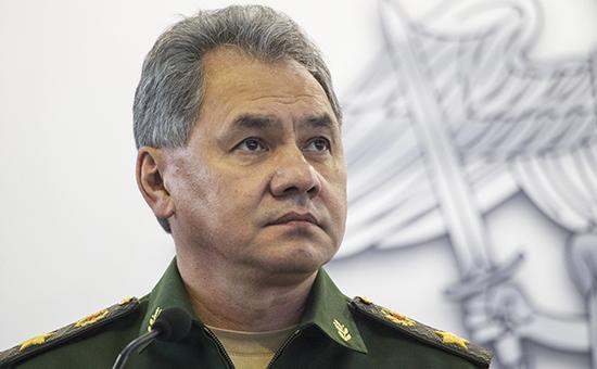 Министробороны России СергейШойгу