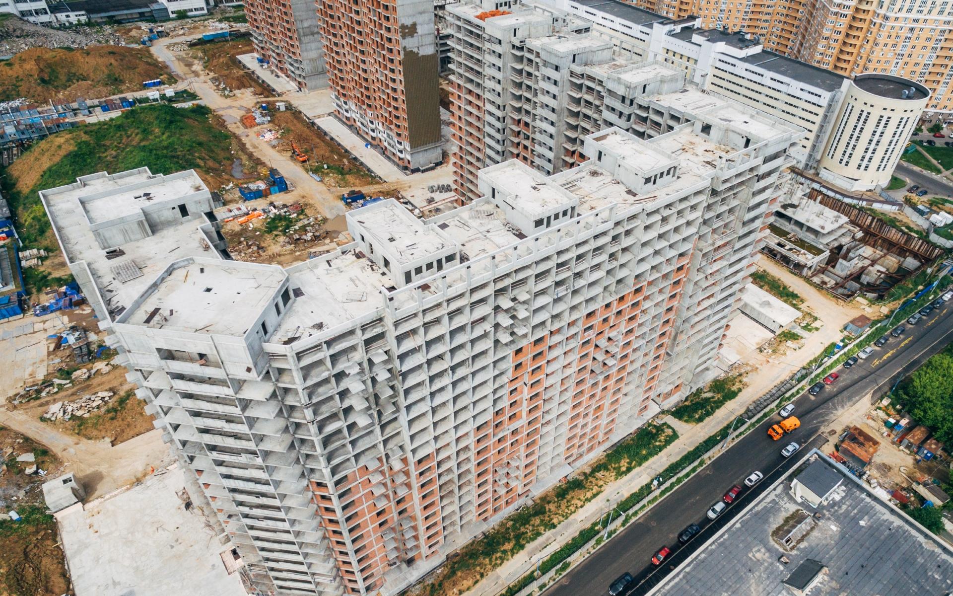 Стройка в московском районе Бирюлево Восточное