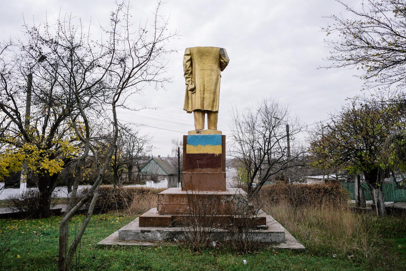 Памятник Ленину в селе Шабо Одесской области