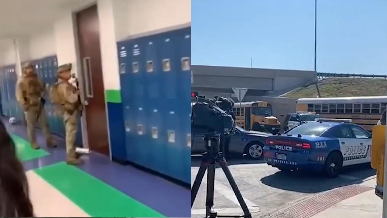 Кадры из школы в Техасе, где неизвестный открыл стрельбу. Видео